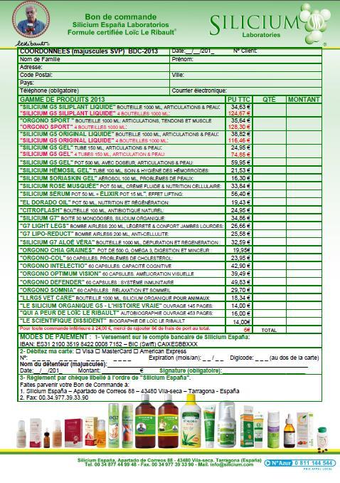 T l charger catalogue bon de commande tarifaire silicium g5 for Comdemande de catalogue gratuit