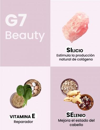 Ingredientes producto G7 Beauty: Silicio, Vitamina E y Selenio