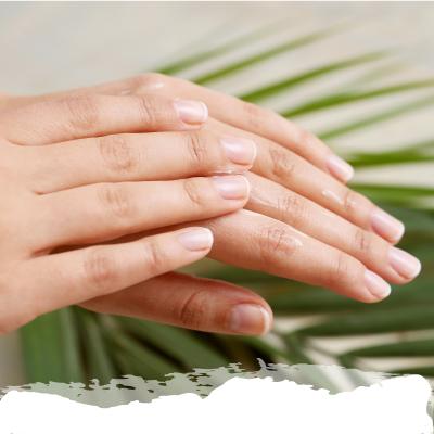 primer plano de una mano mostrando las uñas