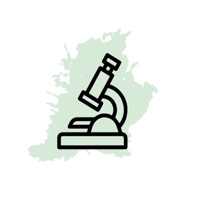 icono de un microscopio de laboratorio
